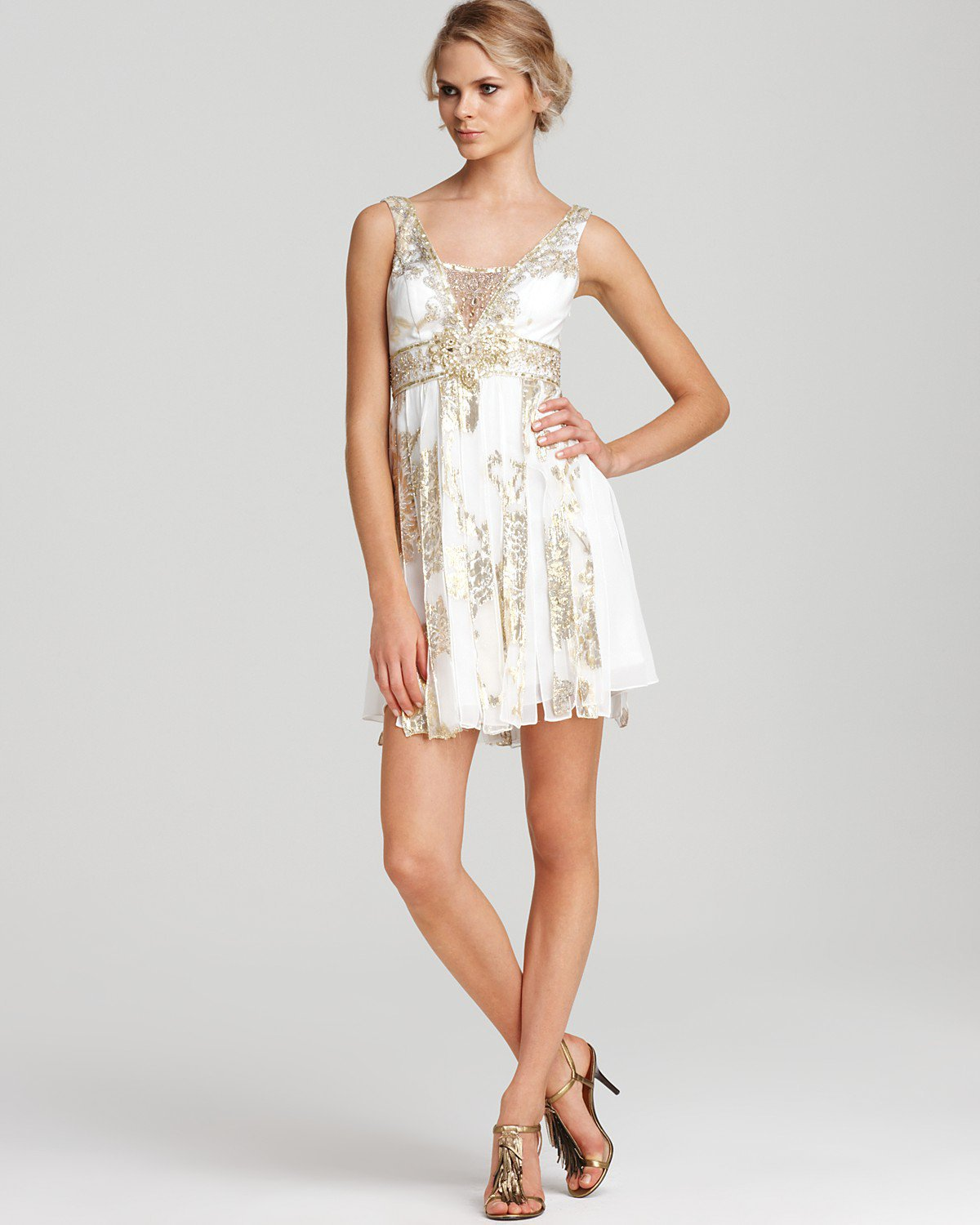 Sue Wong Foil Overlay Dress Bridal From Bloomingdales