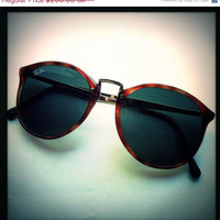 September Sale Vintage Ray Ban Sunglasses Tortoise Shell Rare Style with Gold Filigree