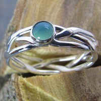Argentium Sterling Silver Stacking Ring B