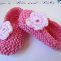 Pink Baby Girl Slippers Newborn