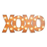 Universal Ironworks 'Marquee Lights - XOXO' Recycled Metal Sign