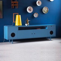 Caixa Lacquered Sideboard Pastel Blue