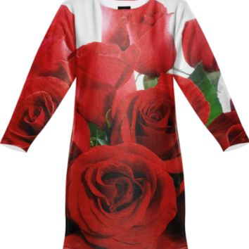 Red Roses Sweatshirt Dress created by ErikaKaisersot | Print All Over Me