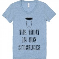 The Fault In Our Starbucks-Unisex Athletic Blue T-Shirt