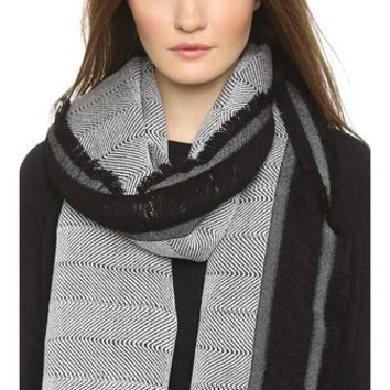 Madewell Wooly Side Fringe Scarf