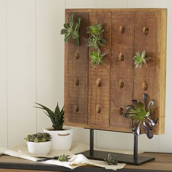 RIDDLING RACK SUCCULENT STAND