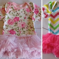 Restocked Baby Onesuits with Tutu's- 7 Styles
