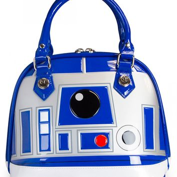 """R2D2"" Patent Dome Bag by Loungefly (White)"