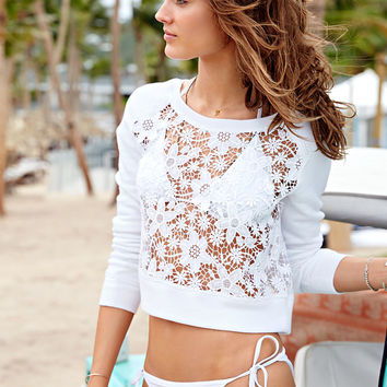 Lace Pullover - French Terry - Victoria's Secret