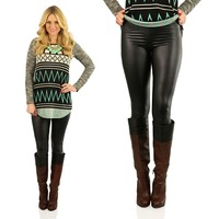 How About This Leather Leggings