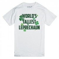 World's Tallest Leprechaun-Unisex White T-Shirt