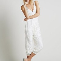 Free People Womens FP X Nile Lace Jumpsuit - SNOW WHITE