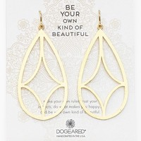 Women's Dogeared 'Arches - Be Your Own Kind of Beautiful' Boxed Teardrop Earrings - Gold