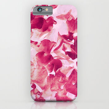sweet peas variation iPhone & iPod Case by Clemm