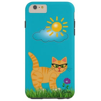 Trendy Hipster Glasses Girl Cat iPhone 6 Case