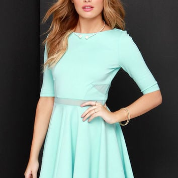 Black Swan Kelsey Mint Blue Dress