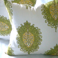 Designer Pillow Cover - Westminster leaf - &quot;20x20&quot; pillow cover