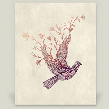 Nature Dove Art Print by rosebudstudio on BoomBoomPrints