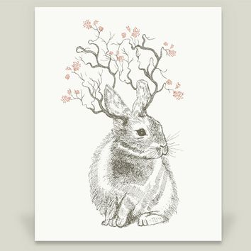 Forest Bunny Art Print by rosebudstudio on BoomBoomPrints