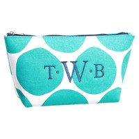 Surf Swell Beauty Pouch, Pool Oversized Dots