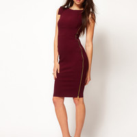 Hybrid Dress with Side Zip Feature in Midi Length at asos.com