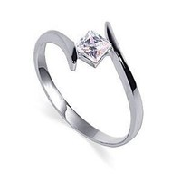 Amazon.com: TD2030 Nickel Free Princess Cut Clear CZ .925 Sterling Silver 2mm Band Promise Ring Size 10: Jewelry