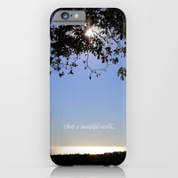 what a beautiful world iPhone & iPod Case by Marianna Tankelevich