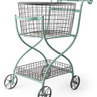 Foreside Toulouse Shopping Cart - Blue