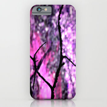 Peeking Through Pink & Purple Nature iPhone & iPod Case by 2sweet4words Designs