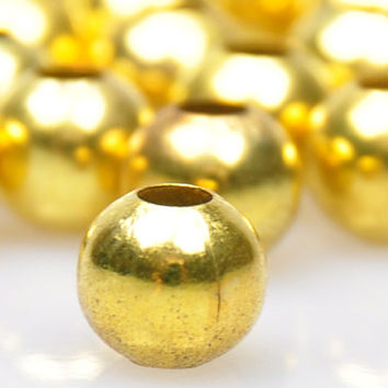 20 Pieces Matte Gold Ball Spacer Beads, Gold Jewelry Spacers, Jewelry Findings, Jewelry Making Supply