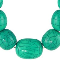 Turquoise Green Beads Princess Length Neck Piece - Necklace Jewelry and Accessories for Girls