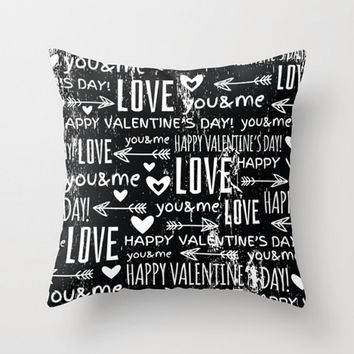 I Love You Pillow, Valentine's Day's Gift, Be My Valentine Pillow Cover, Love Arrow Pillow