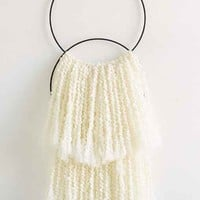 Sonadora Double Hoop Wall Hanging- White One