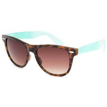 Blue Crown Ombre Stripe Classic Sunglasses Tortoise One Size For Women 25747640101