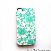 Cell Phone Accessory Case for iPhone 4 and 4S model - Sweet Mint Original Artwork