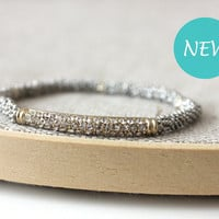 Sweet silver and gold bracelet
