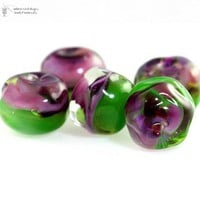 Handmade Glass Lampwork Beads Magical Vineyard Organics