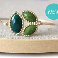 Lime and dark green bangle - custom size - limited offer