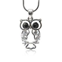 Amazon.com: Small Clear Crystal Stud Owl Pendant Fashion Jewelry: Jewelry
