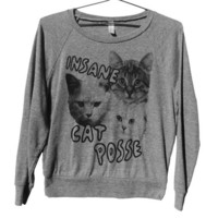 Insane Cat Posse Raglan