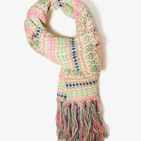Fringed Fairs Isle Scarf