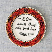 Mother Teresa Quote Plate