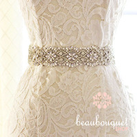 SWAROVSKI Bridal Sash Crystal Belt Bridal Beaded Crystal Sash Wedding Sash Bridal Belt