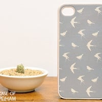 Bird iPhone Case in Grey - Bird iPhone 4 Case - Bird Pattern in Grey