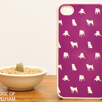 Dog iPhone 4 Case - Pug iPhone Case in Violet - Cute iPhone Cases