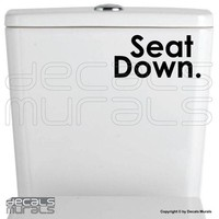 Wall decal SEAT DOWN Vinyl art stickers Fun by decalsmurals