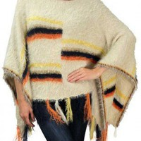 Chic City Multicolor Fringe Poncho