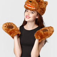 Kuma Bear Hat With Paw Gloves