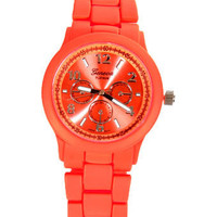 Cute Neon Watch - Coral Watch - Orange Watch - $21.00
