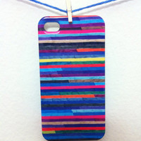 "iPhone 5 Case - ""Broken Stripes"" Graph Drawing - unique iPhone case, art iPhone case, hipster iphone case, iphone 5 case"